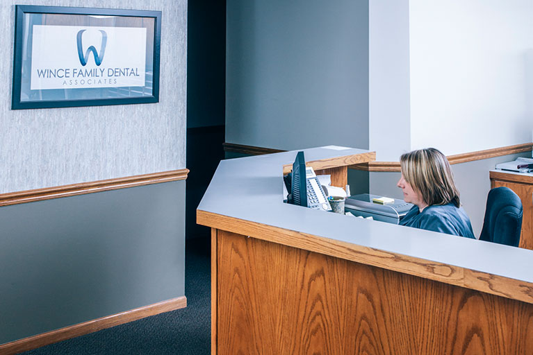 Wince Family Dental Associates Reception Desk
